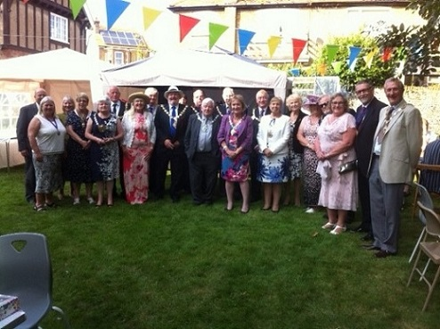 With all the visiting Mayors an Mayoress' at the Garden Party