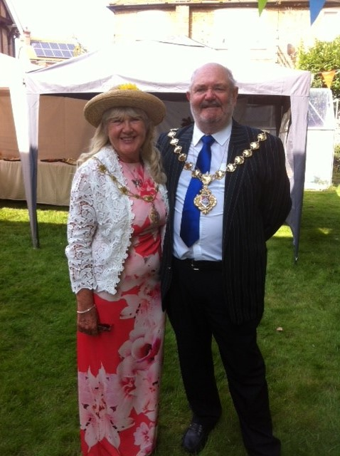 The Mayor and Mayoress at their fundraising garden party