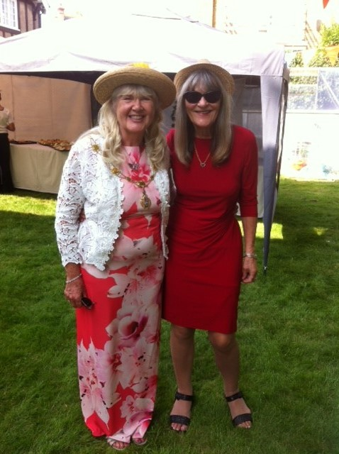 Mayoress with Cllr. Mave Saunders at the Garden Party
