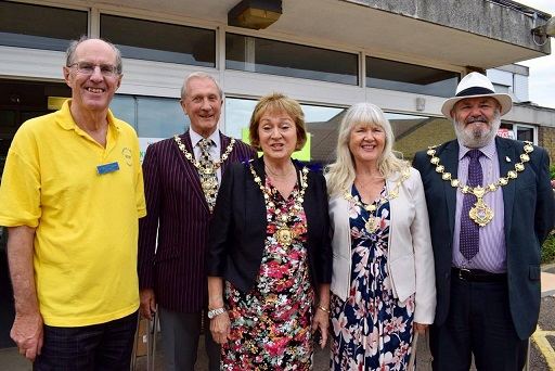 At the QEQM League of Friends Summer Fair with League of Friends Chairman and Mayor and Consort of Margate
