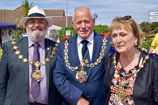 With the Mayor of Ramsgate and Mayor of Margate at QEQM League of Friends Fair