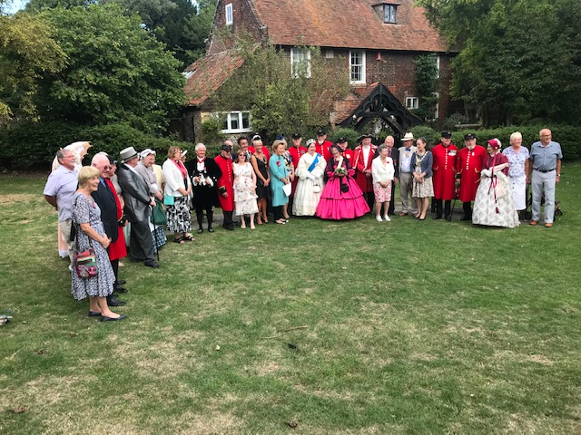 Mayor and Mayoress at 25th anniversary of St Peter's village tour