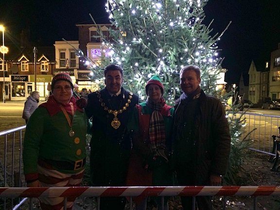 Christmas light switch on event